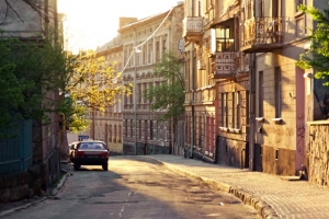 Old street in center of Lviv